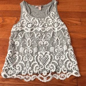 Forever 21 Laced Tank Top size S